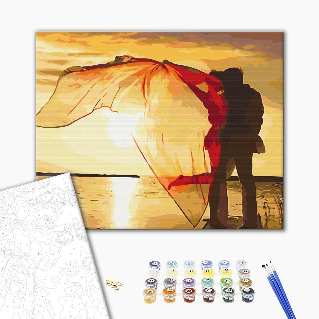 Картина по номерам Романтика - Двоє на заході сонця