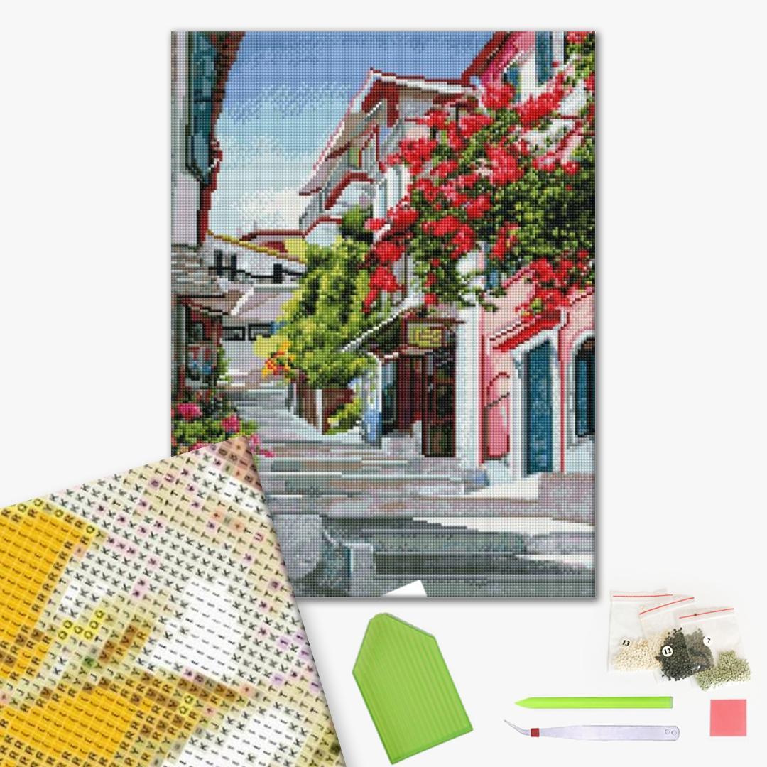 Алмазная мозаика 40х50 - Уютная улочка