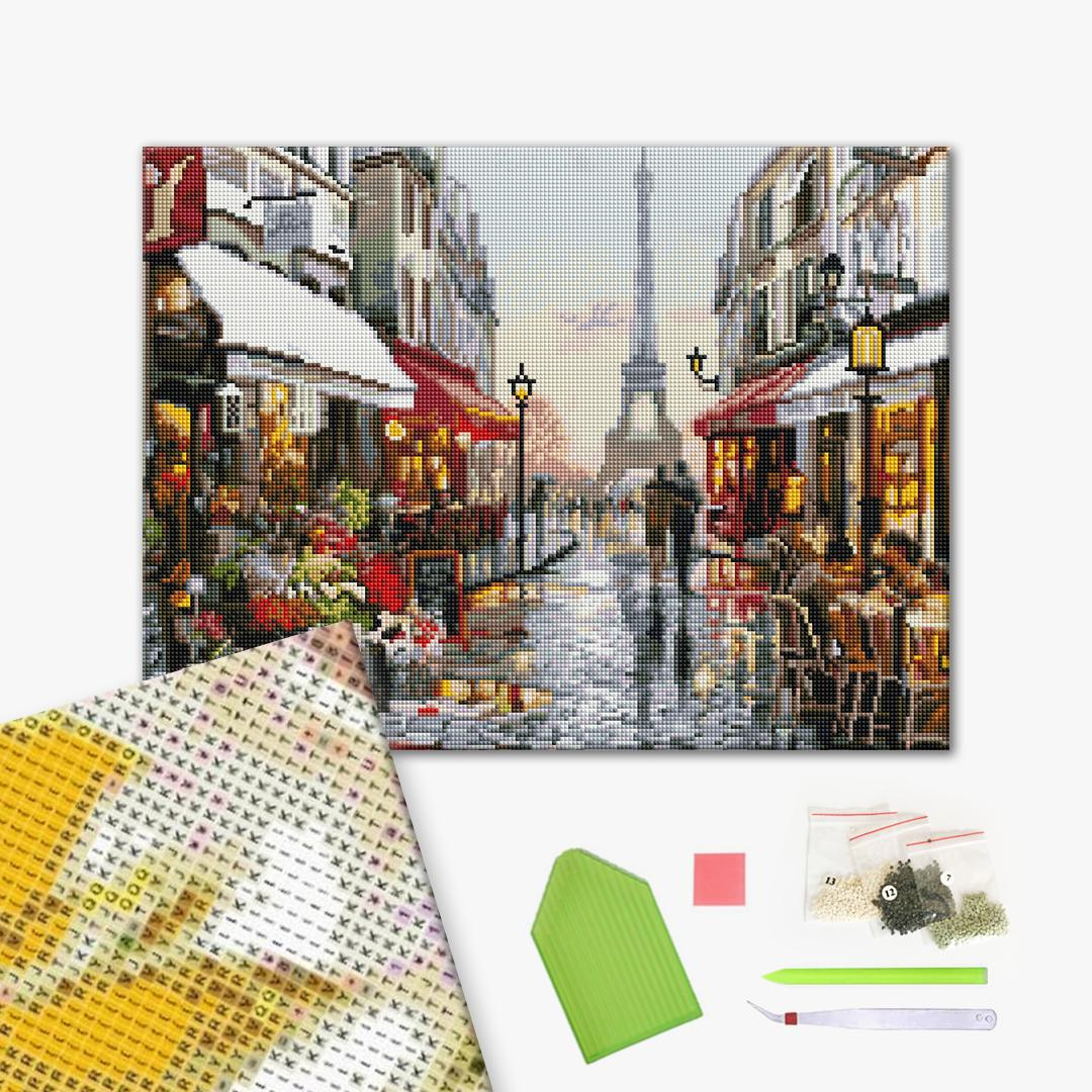 Алмазная мозаика 40х50 - Дощовий Париж