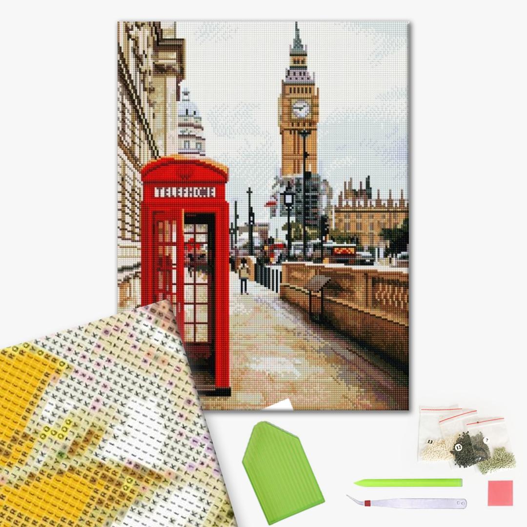 Алмазная мозаика 40х50 - Символи Лондона