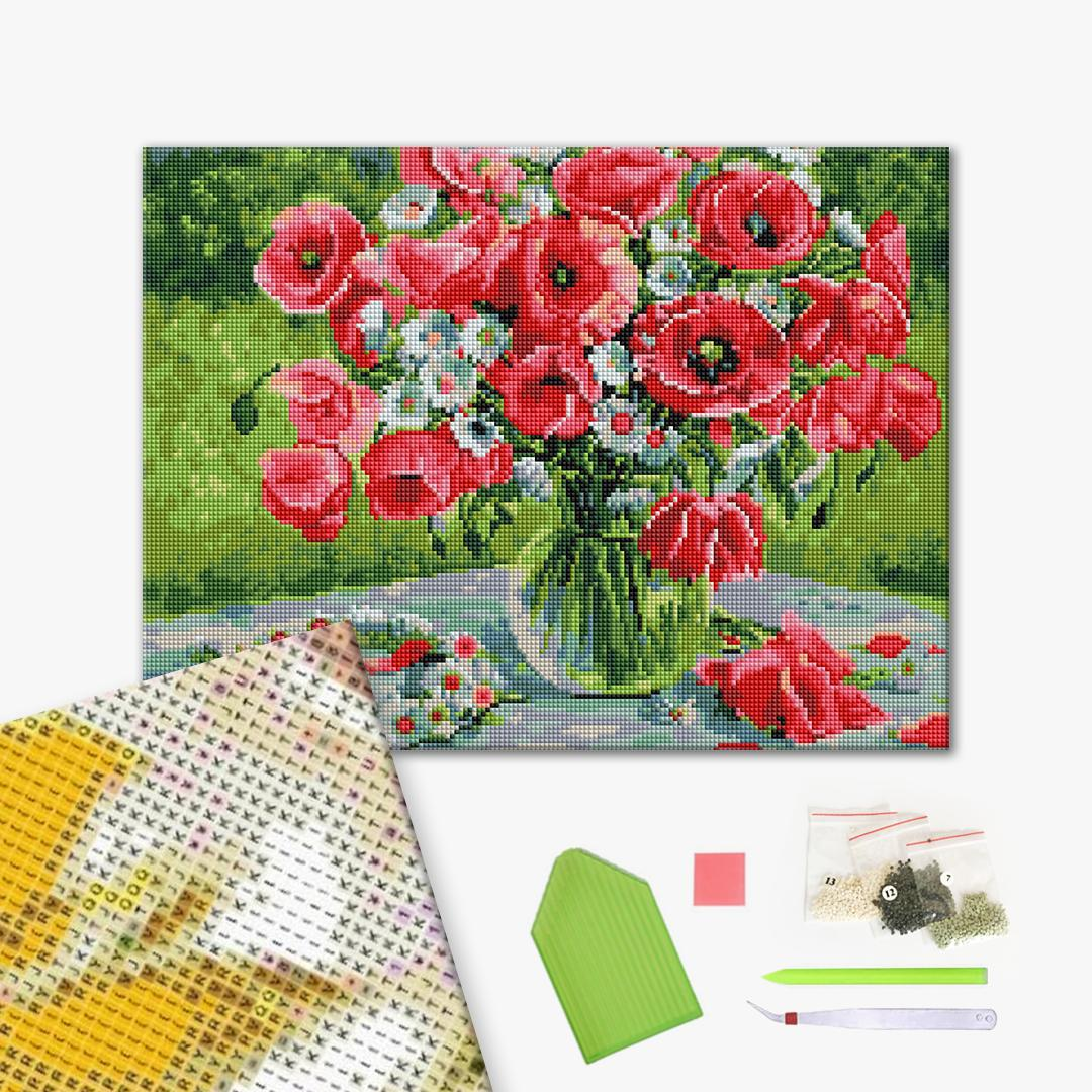 Алмазная мозаика 40х50 - Віночок польових квітів