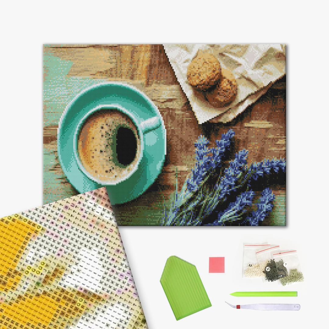 Алмазная мозаика 40х50 - Завтрак с ароматом лаванды