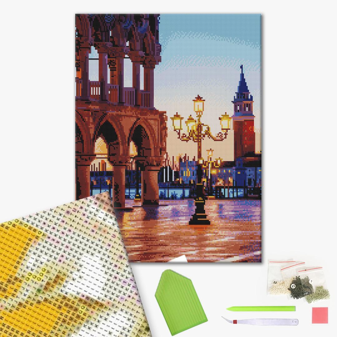 Алмазная мозаика 40х50 - Вечерняя площадь