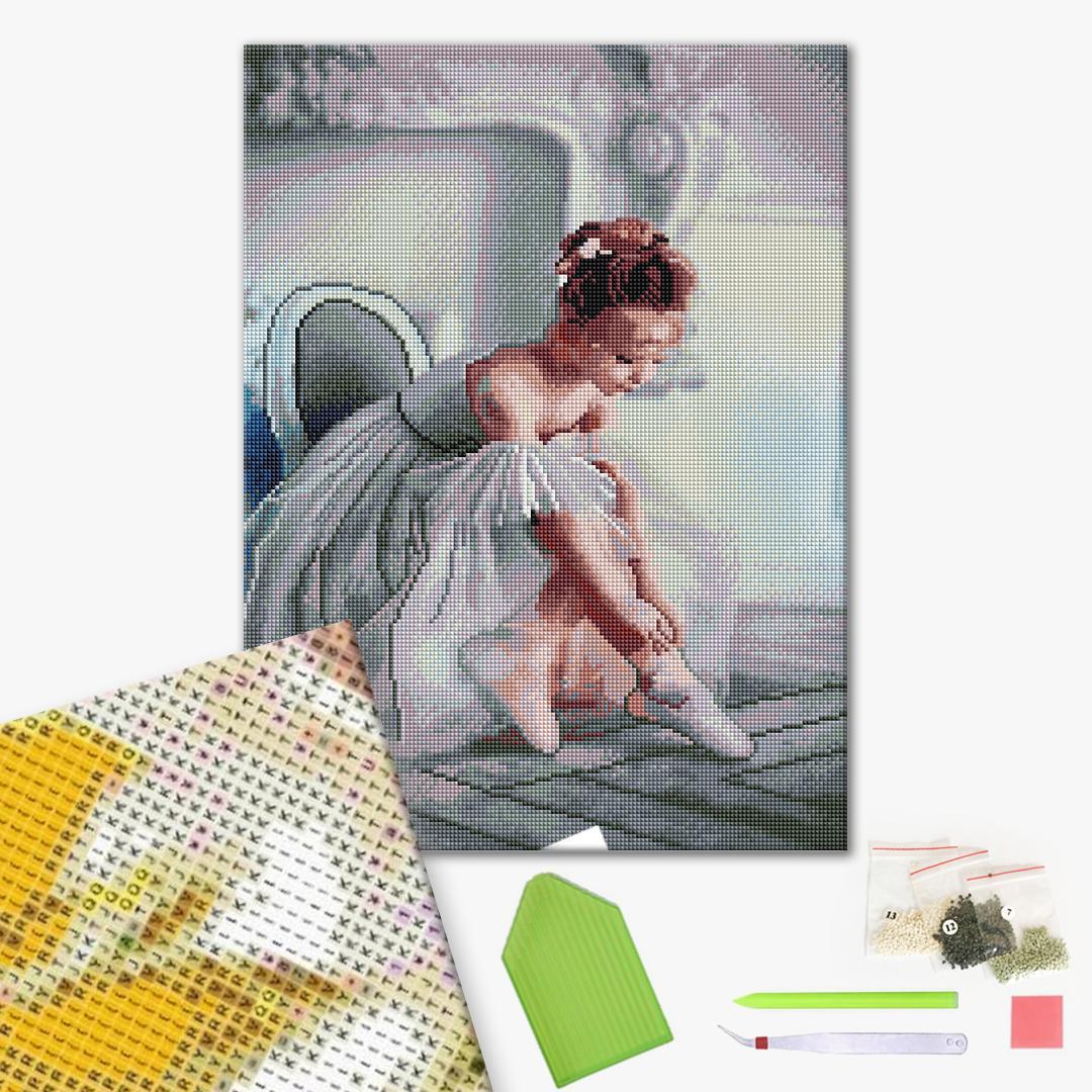 Алмазная мозаика 40х50 - Маленька балерина