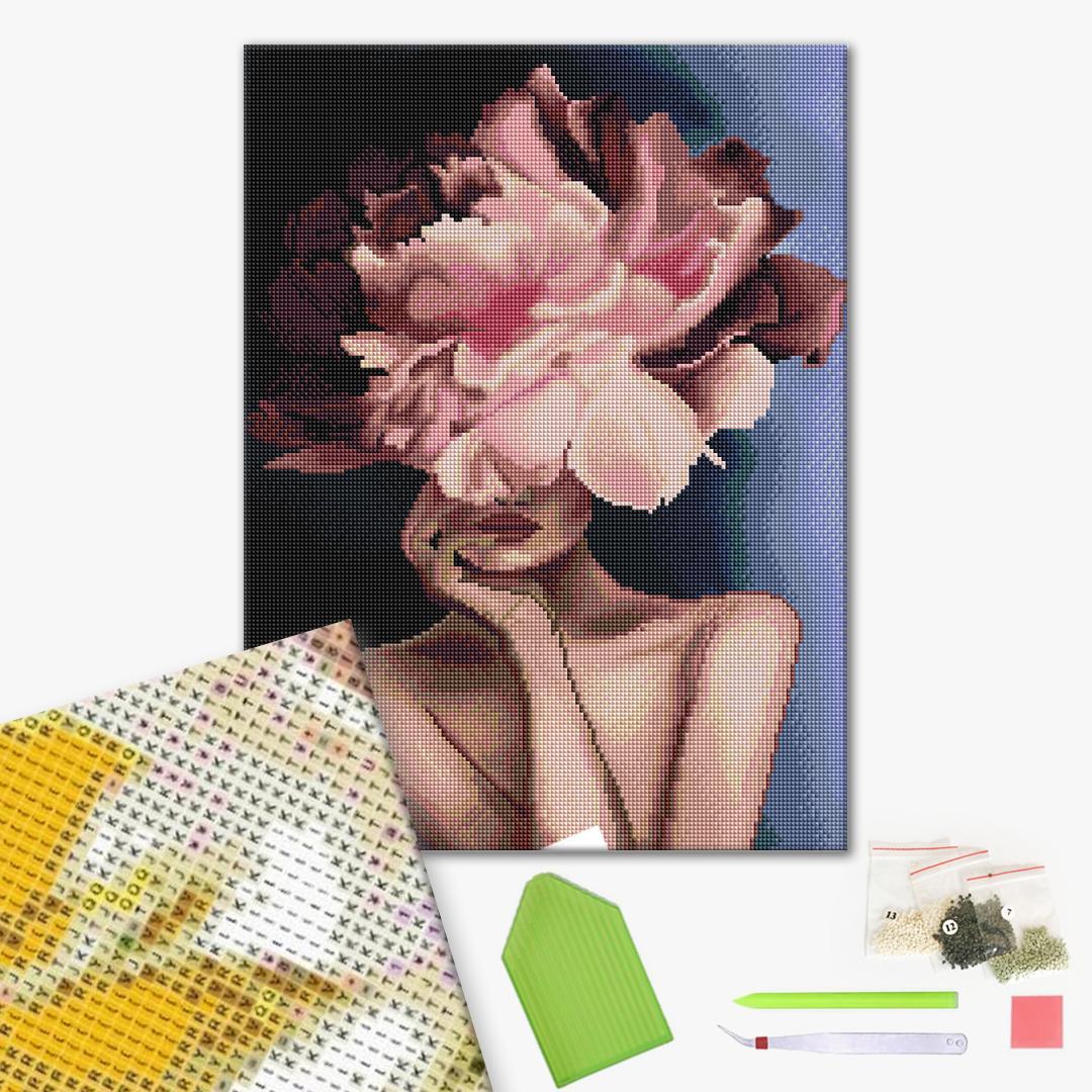 Алмазная мозаика 40х50 - Витончена квіточка