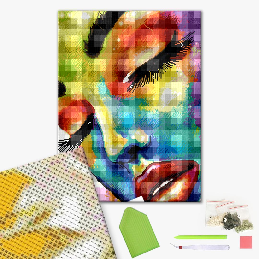 Алмазная мозаика 40х50 - Женщина в красках