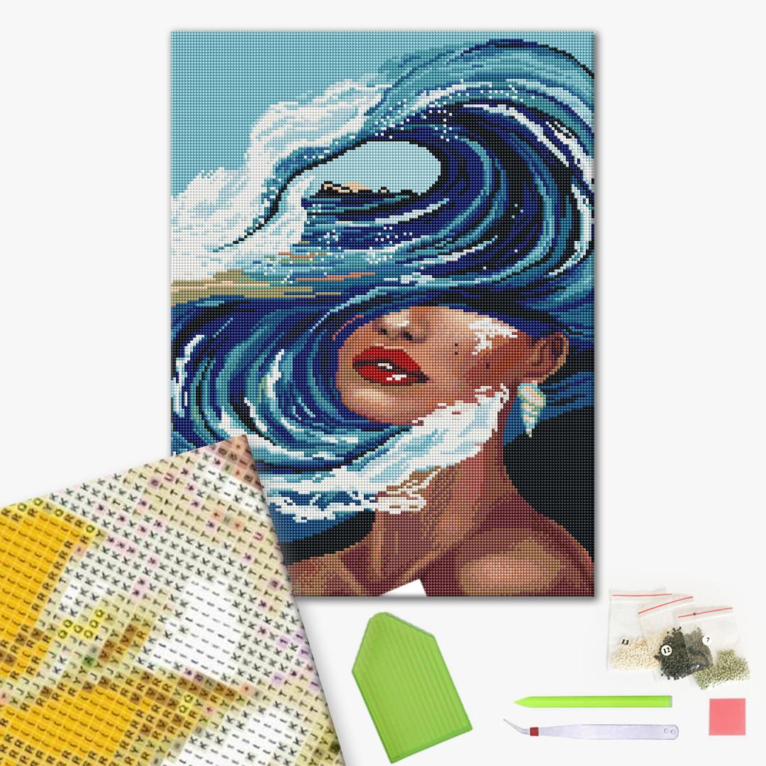 Алмазная мозаика 40х50 - Жінка стихії