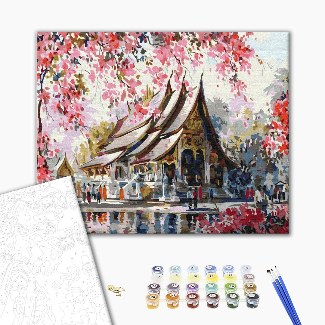 Картина по номерам Города - Тайський храм
