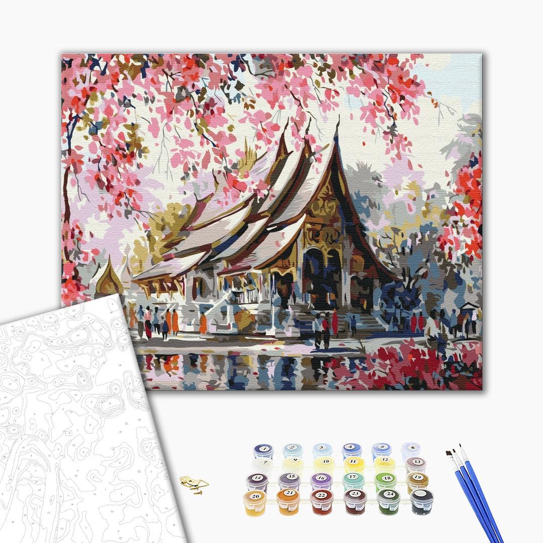 Картина по номерам Города - Тайский храм