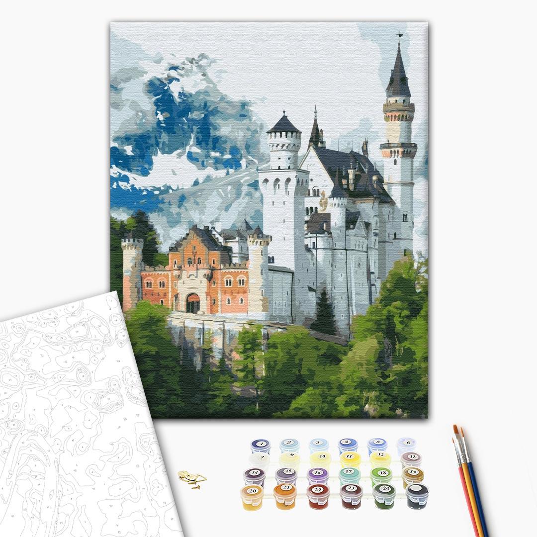 Картина по номерам Уникальные сюжеты - Замок Нойшванштайн