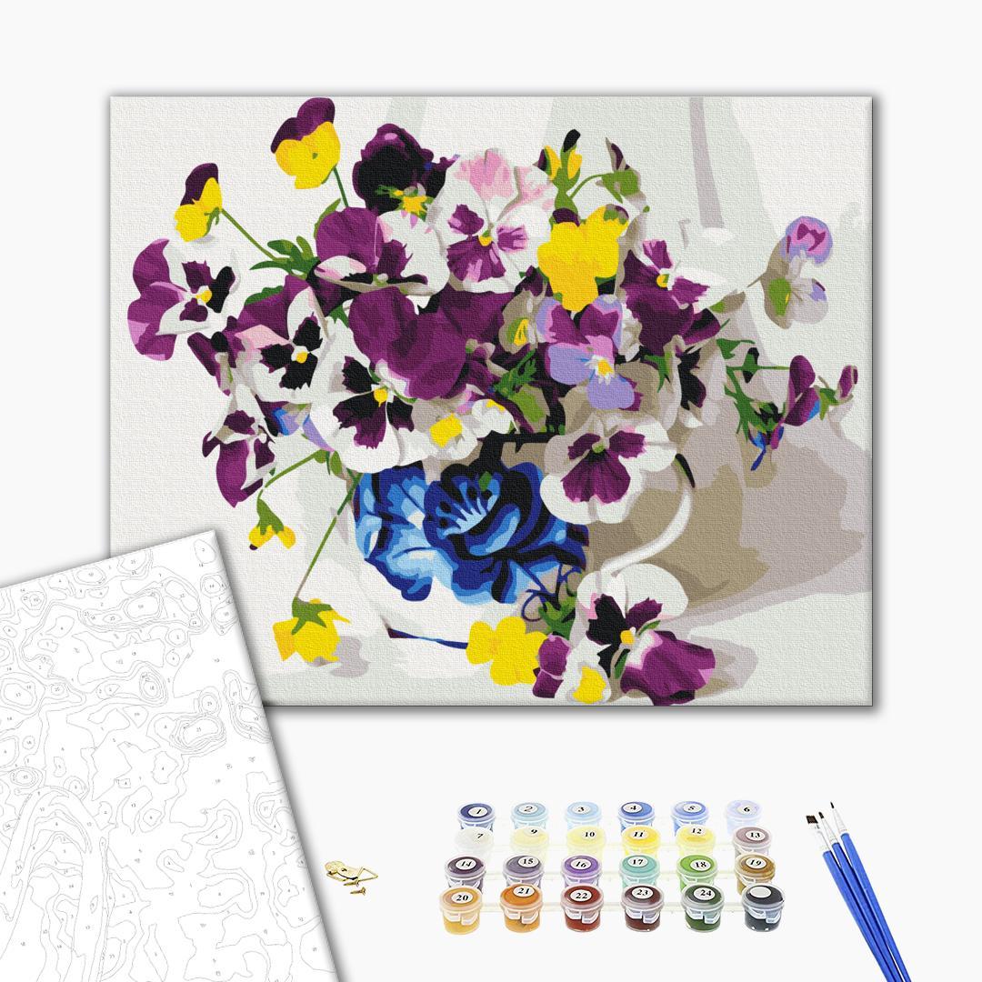 Картина по номерам Цветы - Фіалки