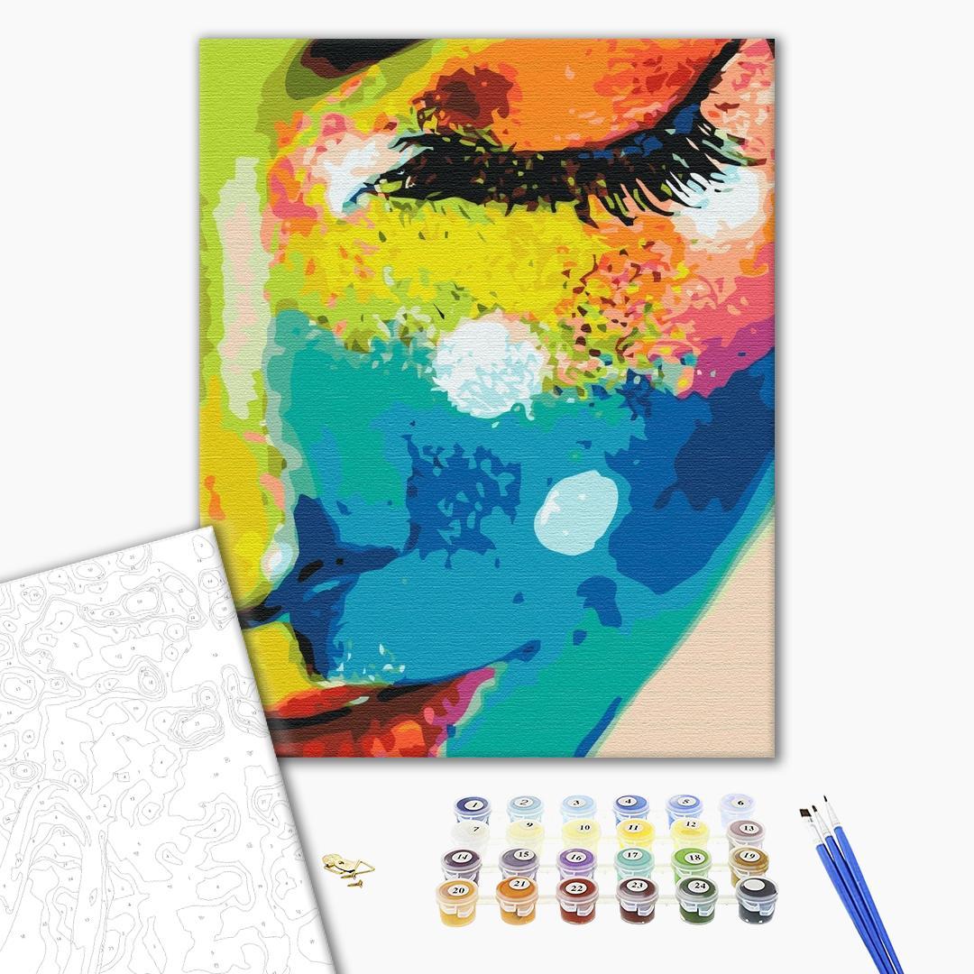 Картина по номерам Поп-арт - Женщина в красках