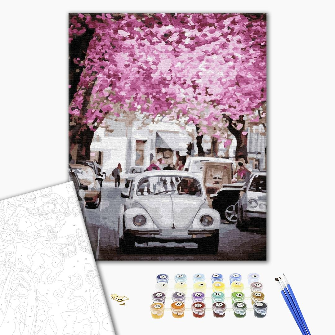 Картина по номерам Города - В городе весна