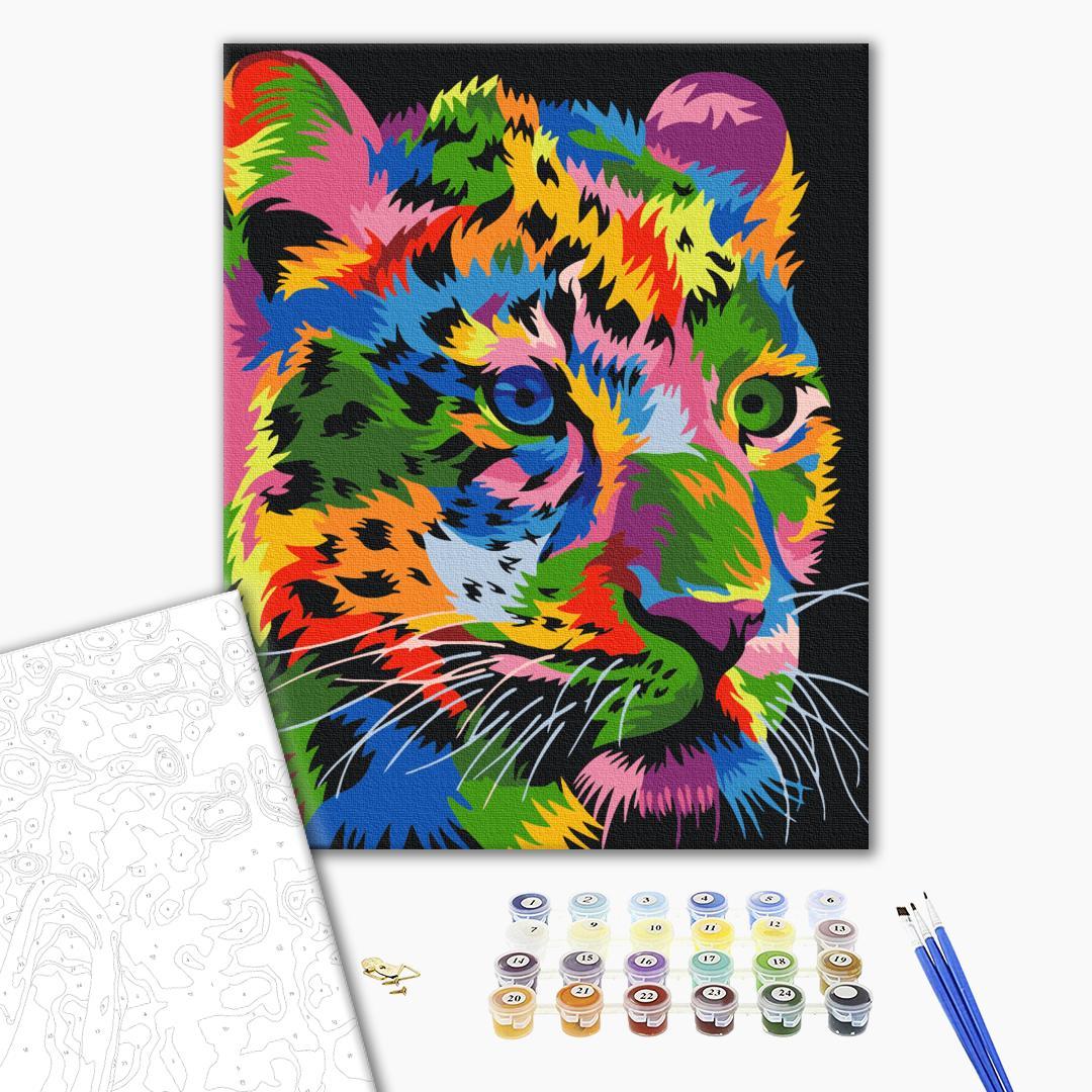 Картина по номерам Поп-арт - Пятнистый леопард