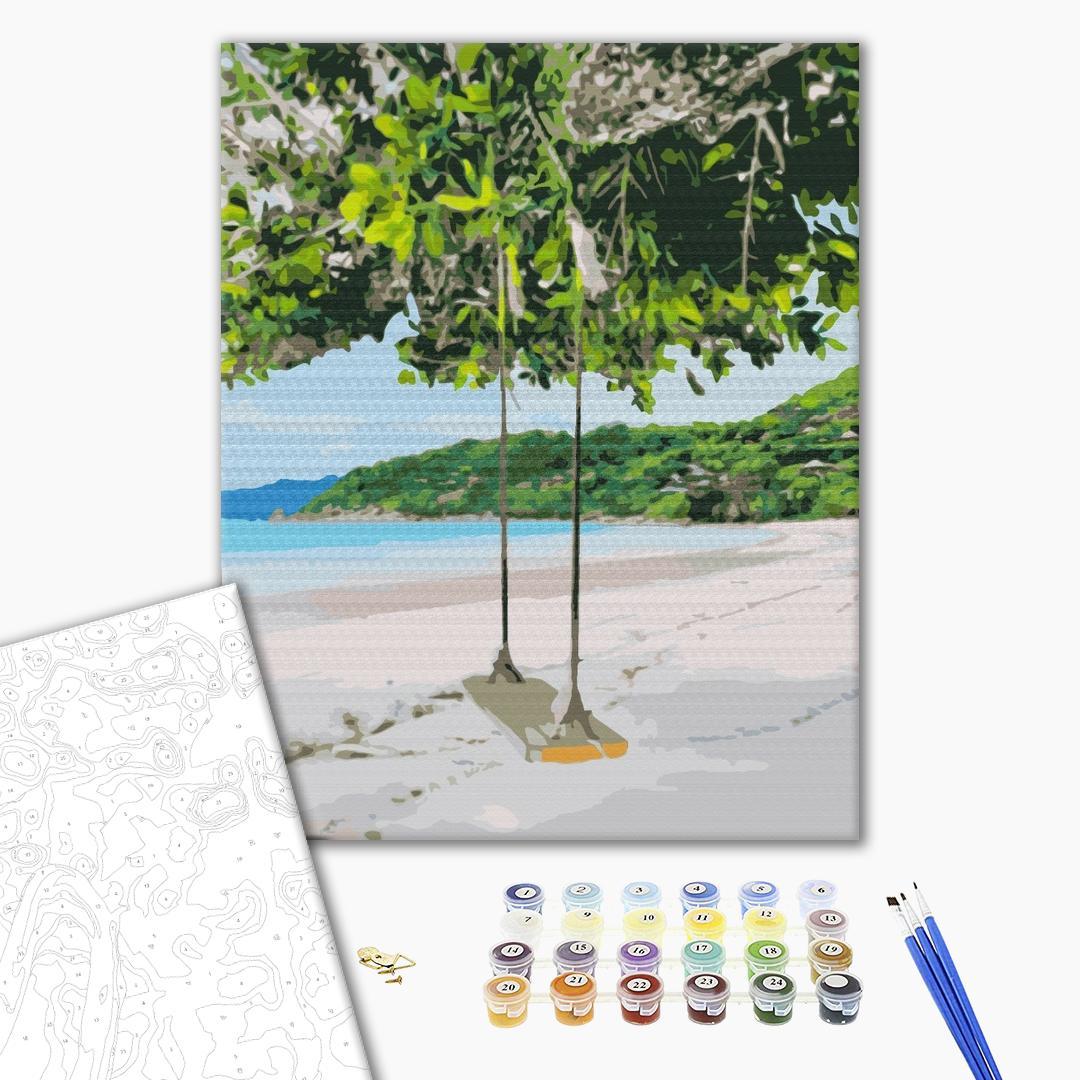 Картина по номерам Пейзажи - Райський куточок