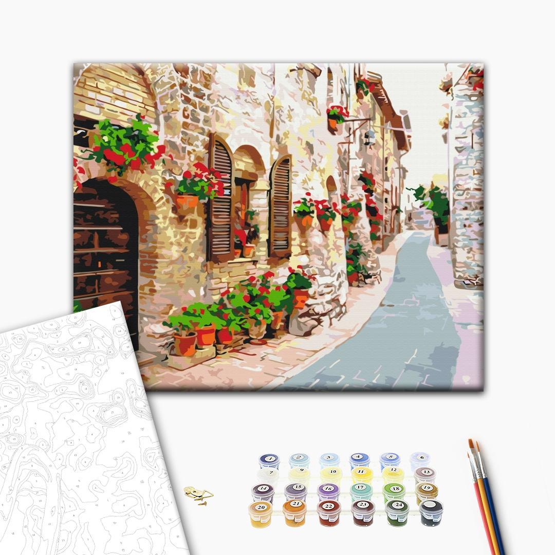Картина по номерам Города - Квітуча вулиця