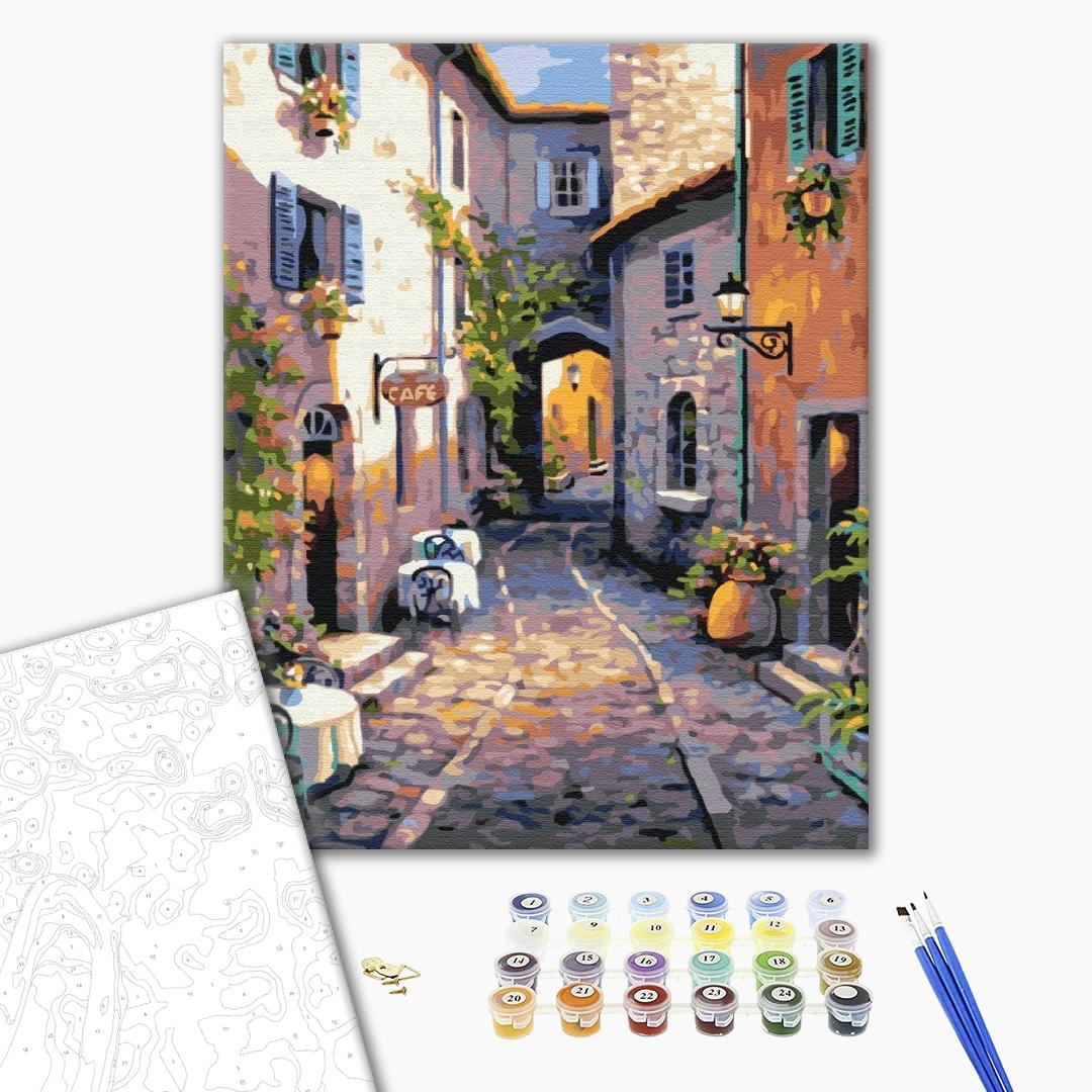 Картина по номерам Пейзажи - Тихая улочка