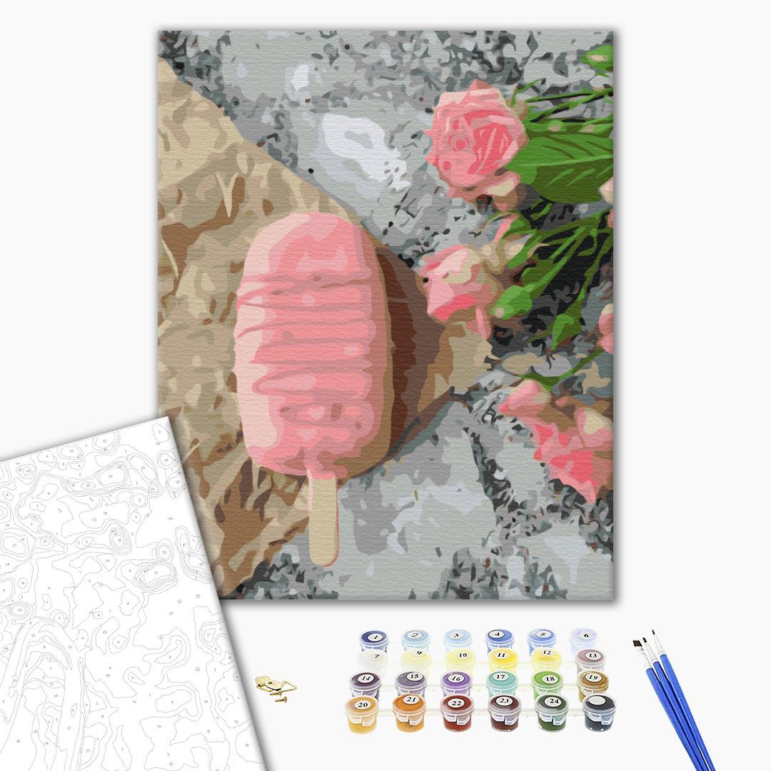 Картина по номерам Натюрморты - Розовое мороженое