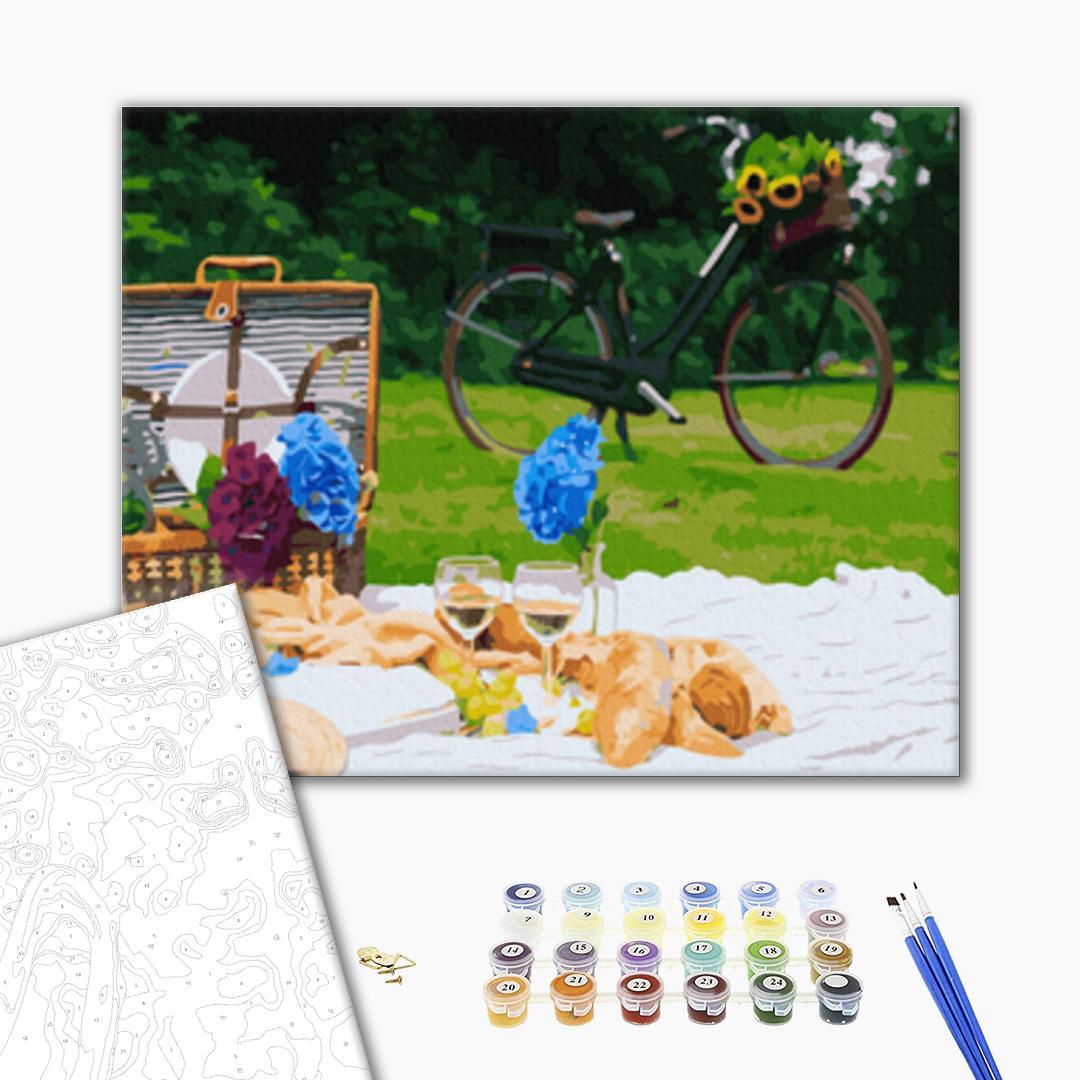 Картина по номерам Натюрморты - Пикник в парке