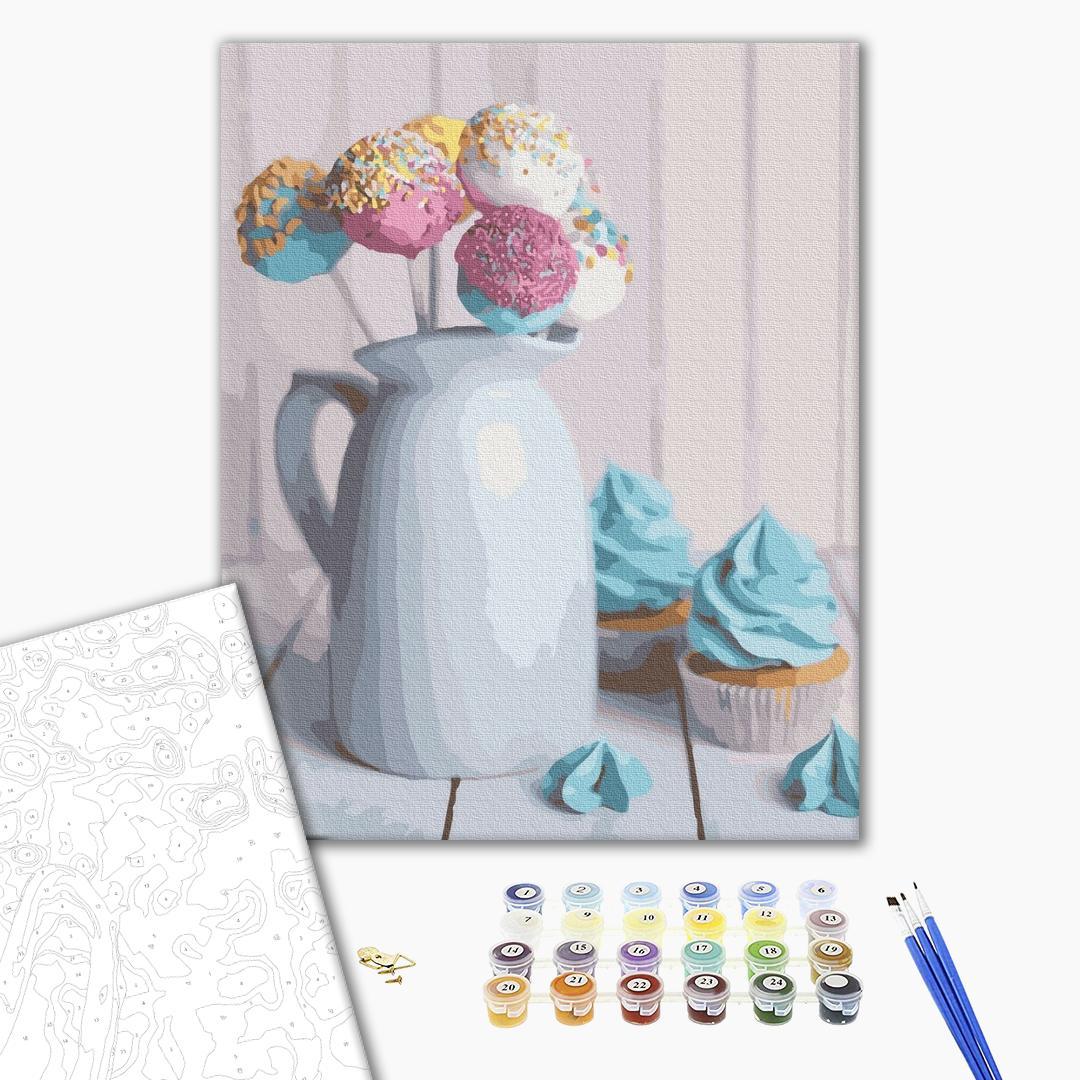 Картина по номерам Натюрморты - Воздушные десерты