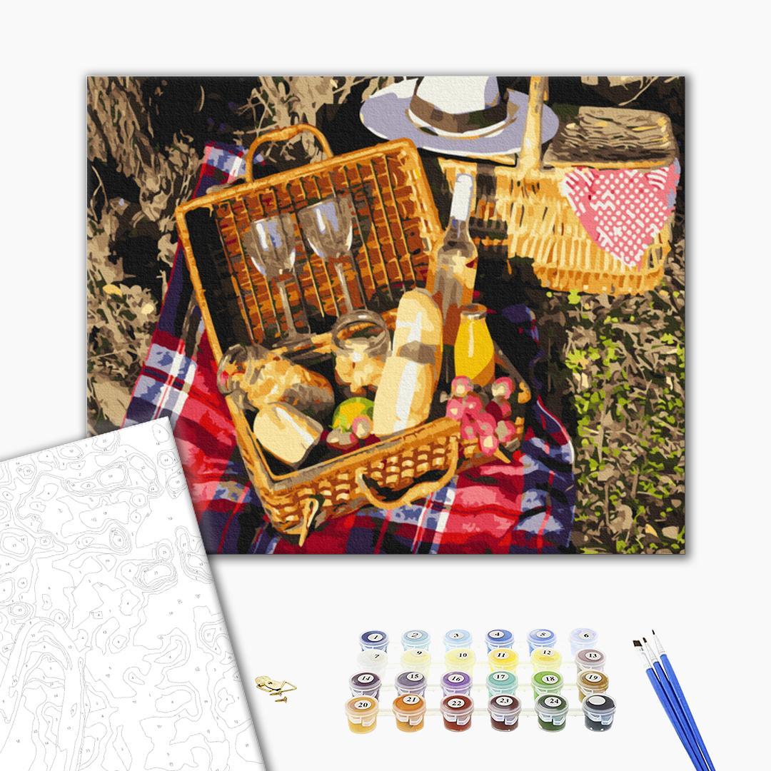 Картина по номерам Натюрморты - Набор для пикника