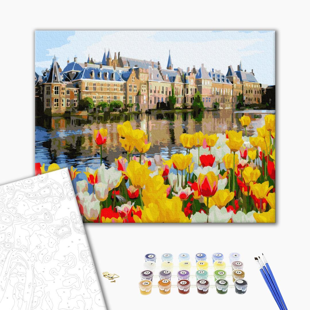 Картина по номерам Города - Палац в тюльпанах