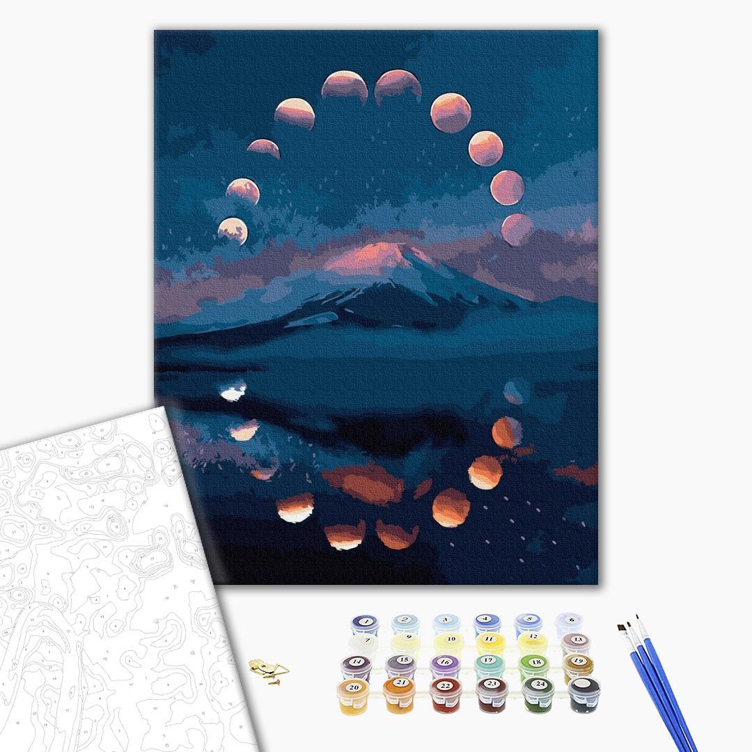 Картина по номерам Пейзажи - Лунный круг