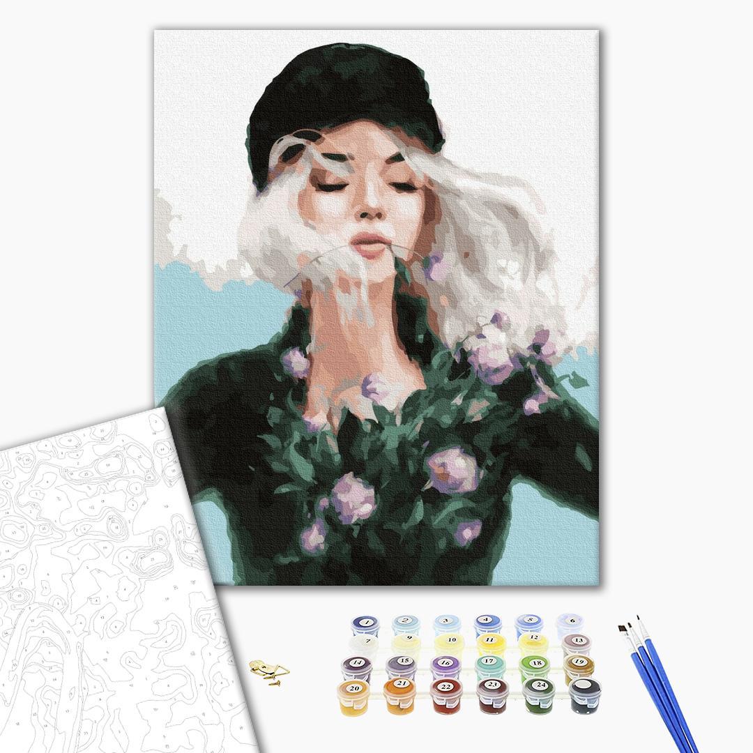 Картина по номерам Люди на картинах - Дівчина-весна