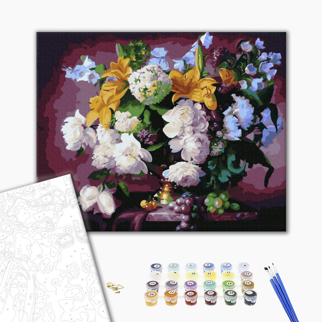 Картина по номерам Цветы - Роскошный цветочный натюрморт