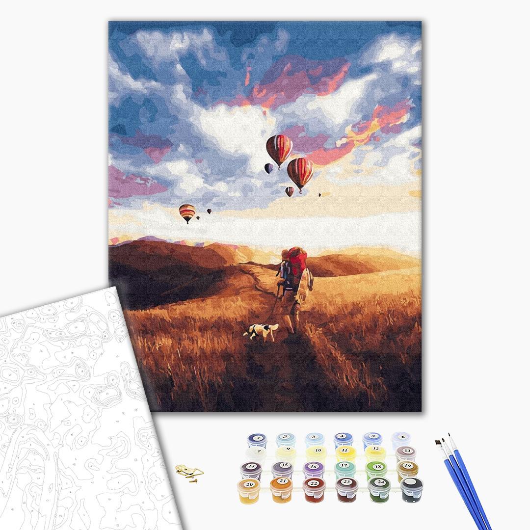 Картина по номерам Пейзажи - Сказка в поле