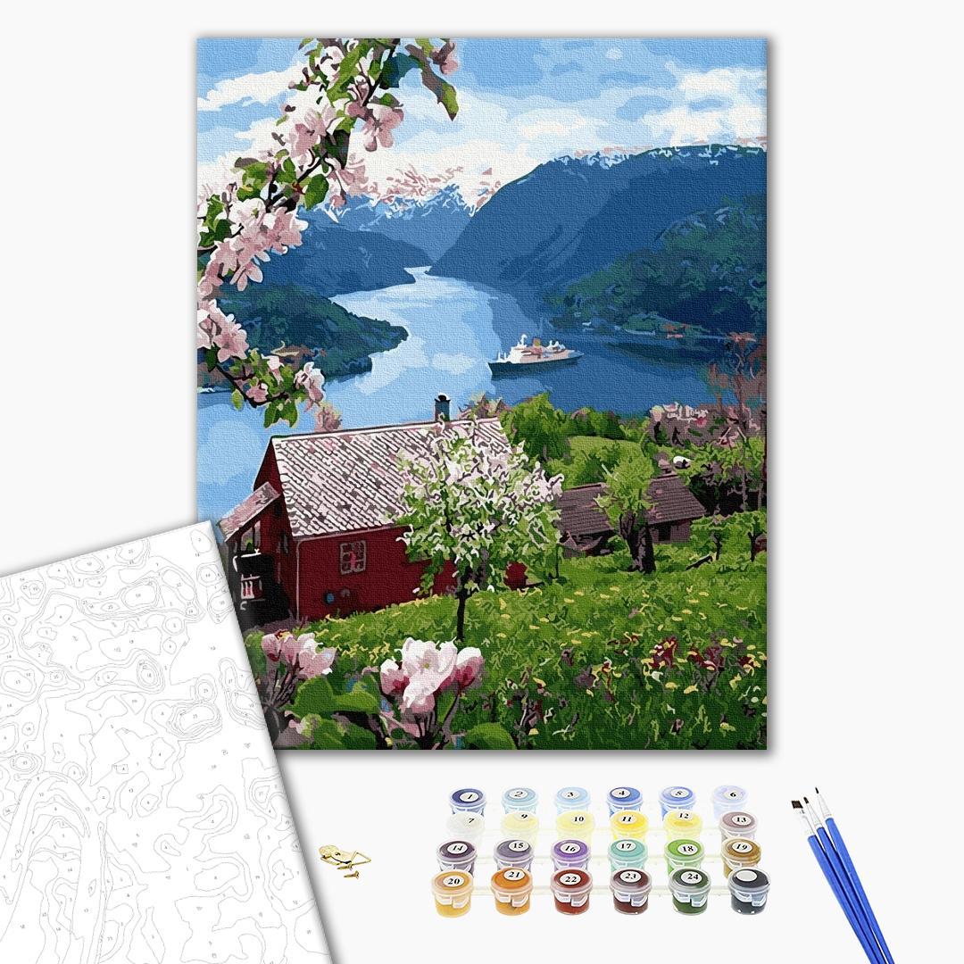 Картина по номерам Пейзажи - Будиночок на краю світу