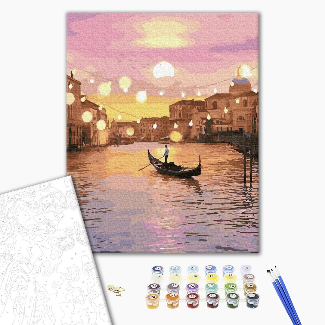 Картина по номерам Города - Сказочная вечерняя Венеция