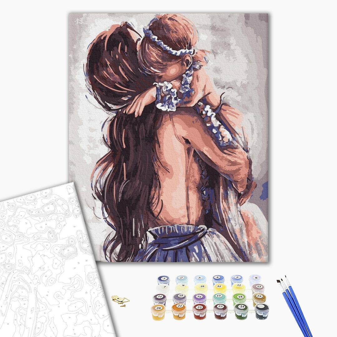 Картина по номерам Люди на картинах - Мамина любовь