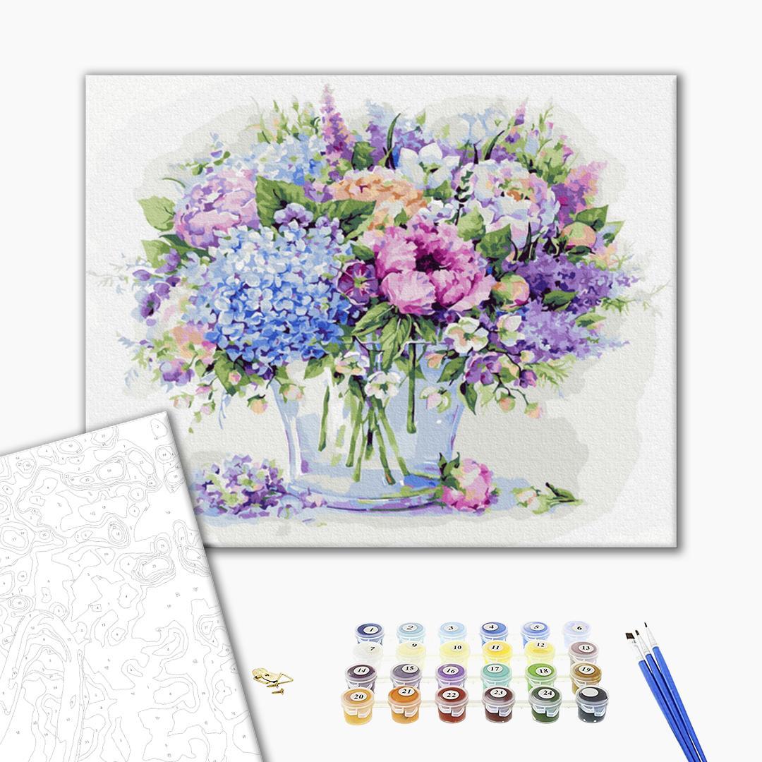 Картина по номерам Цветы - Цветочная синева