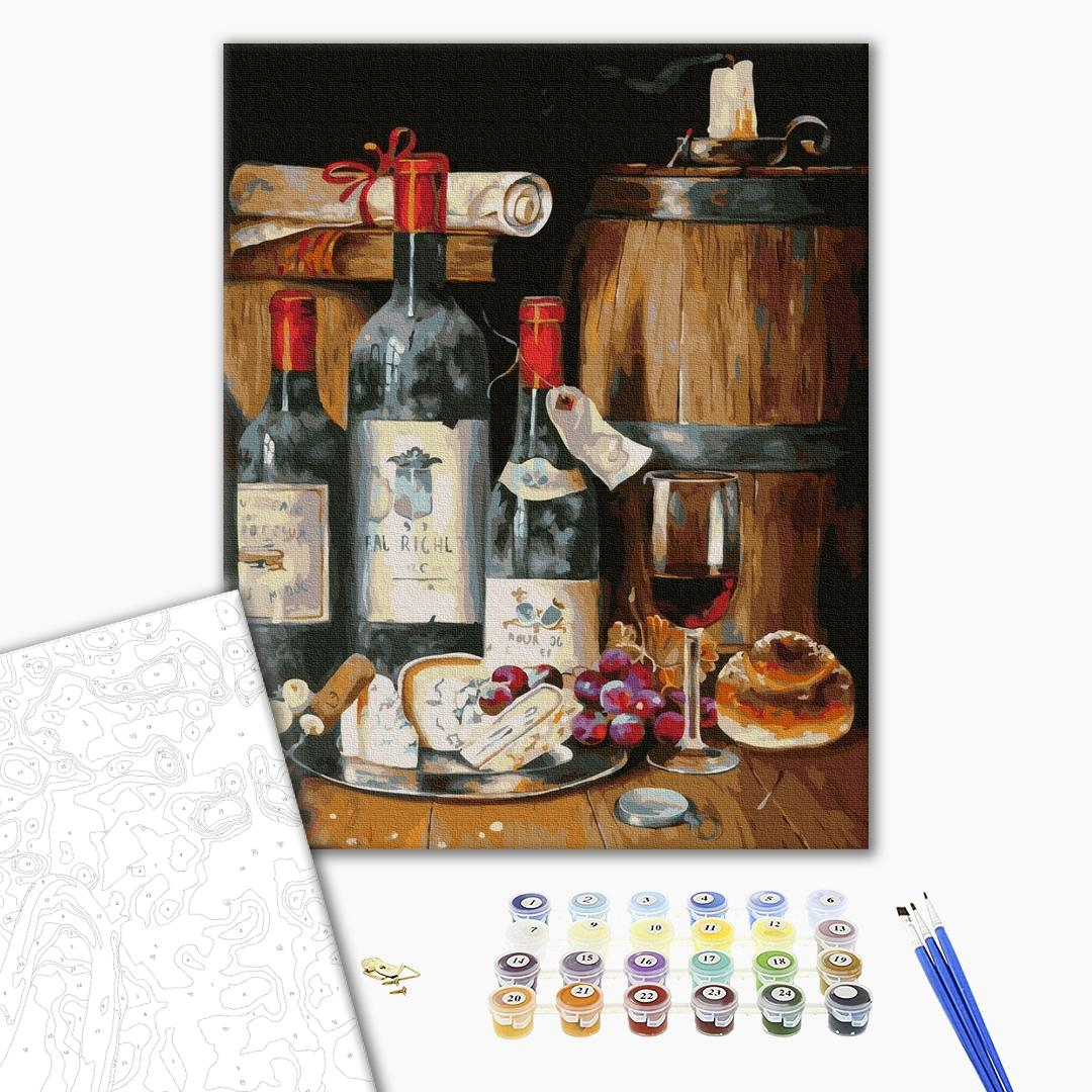 Картина по номерам Мужские - Выдержанное вино