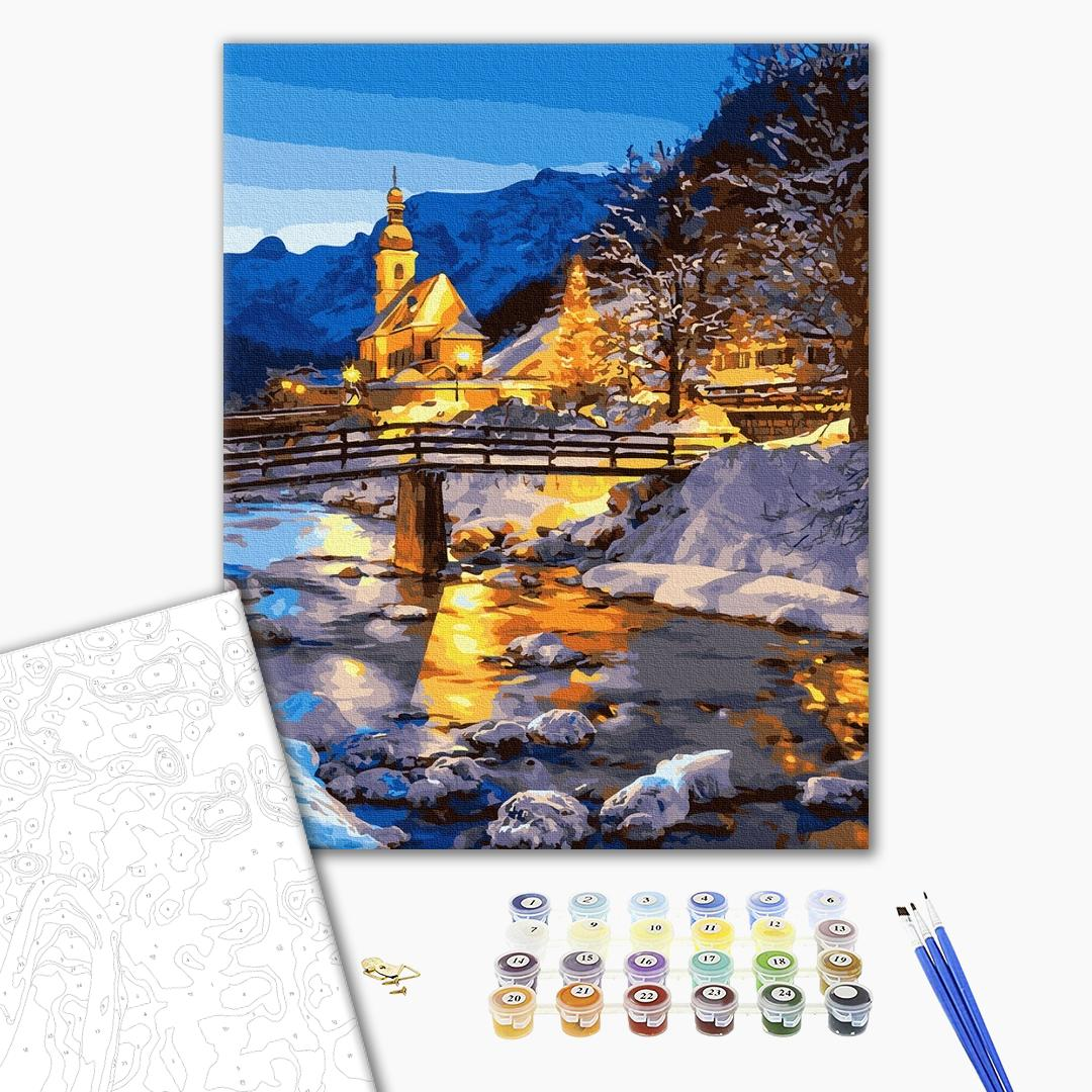 Картина по номерам Пейзажи - Зимова казка