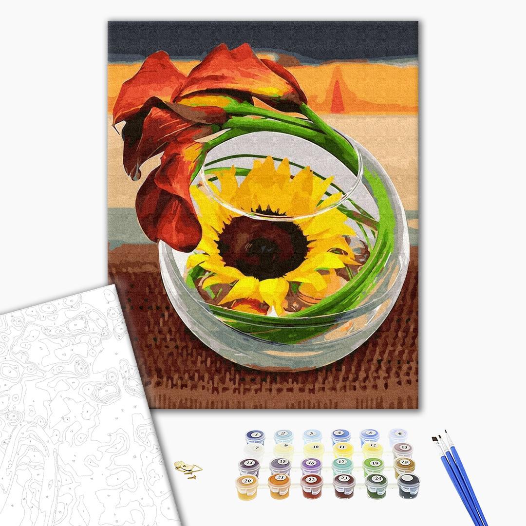 Картина по номерам Натюрморты - Цветочная икебана