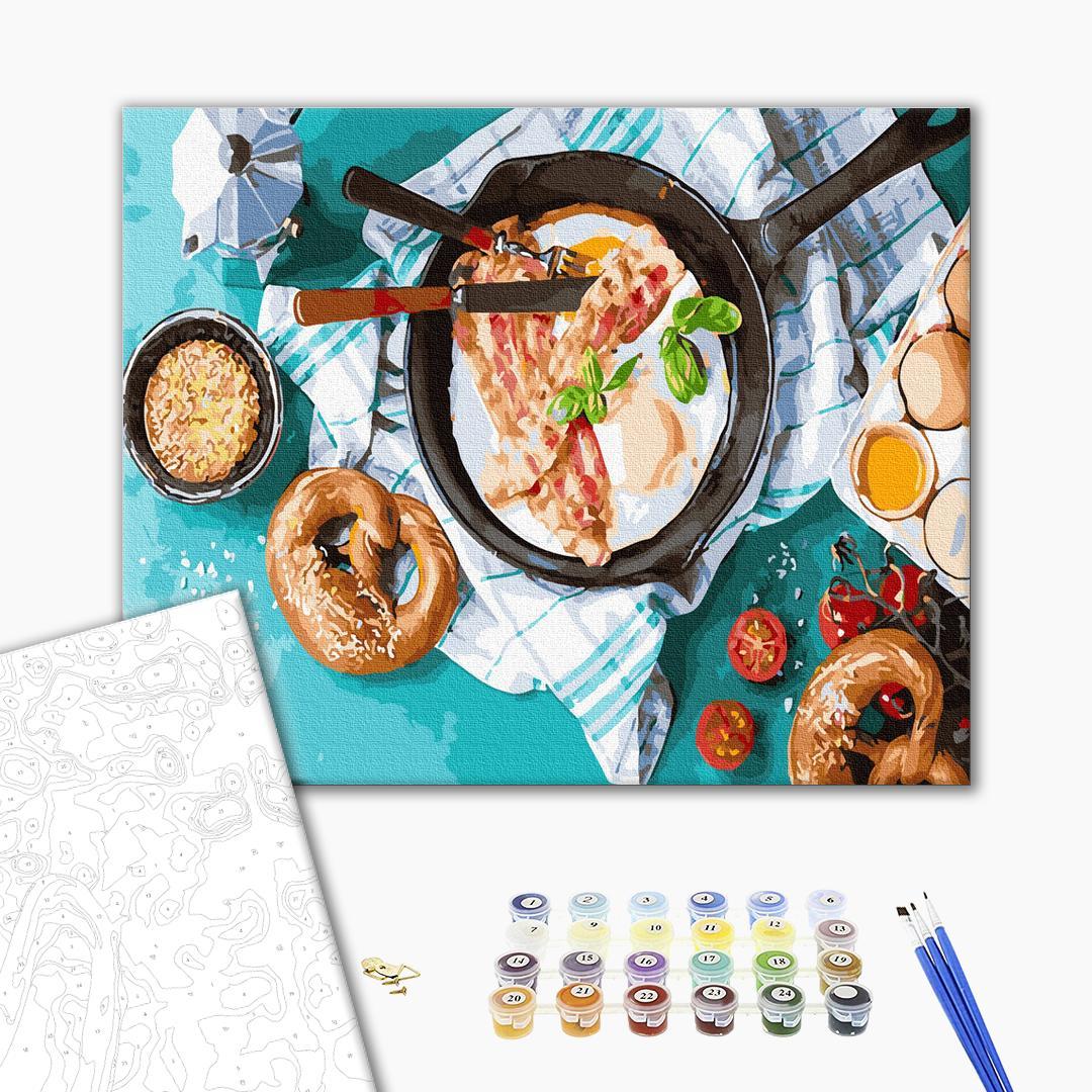 Картина по номерам Натюрморты - Вкусный завтрак