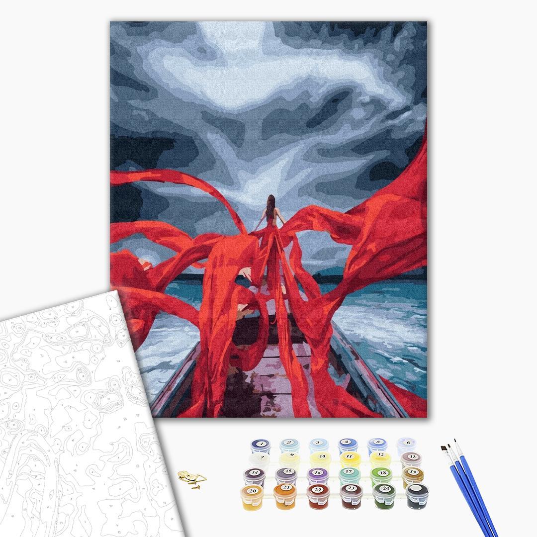 Картина по номерам Уникальные сюжеты - Червоні стрічки кохання
