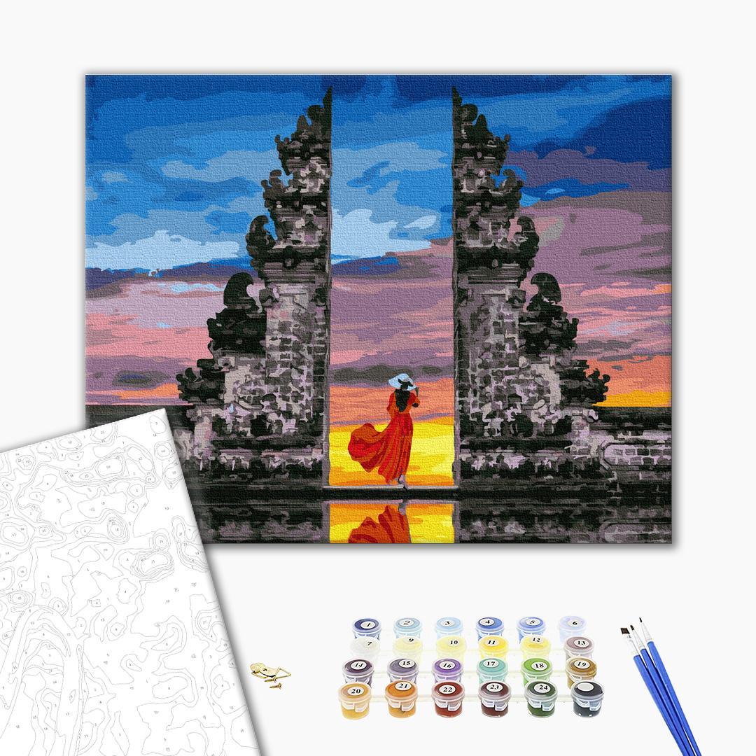 Картина по номерам Люди на картинах - Путешественница на Бали