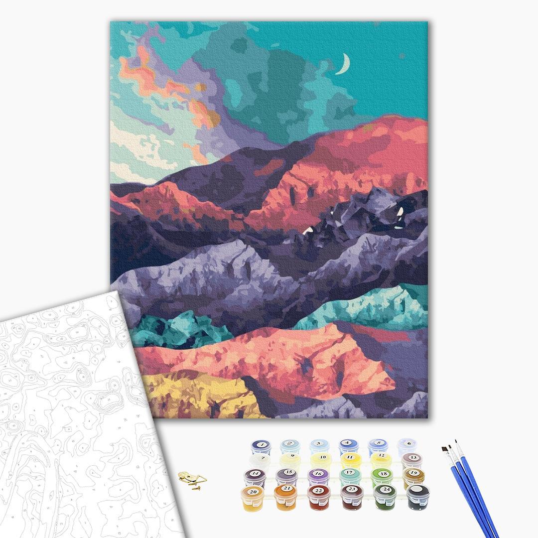Картина по номерам Пейзажи - Ранний вечер в горах