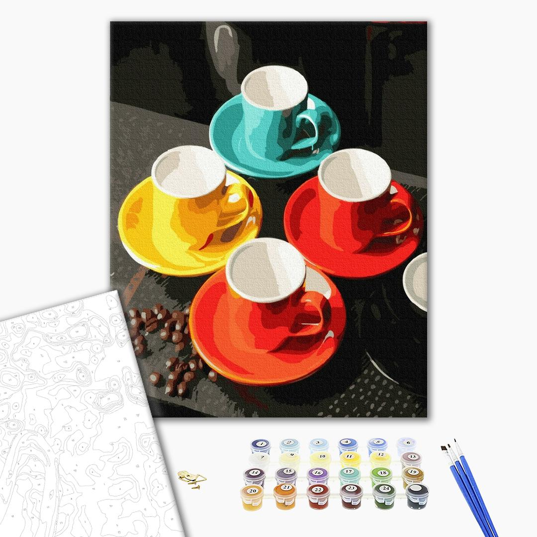 Картина по номерам Натюрморты - Дружеское чаепитие
