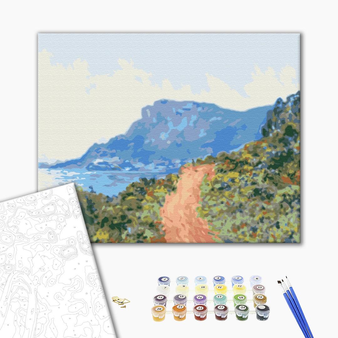 Картина по номерам Репродукции художников - Гірська дорога в Монако. Клод Моне