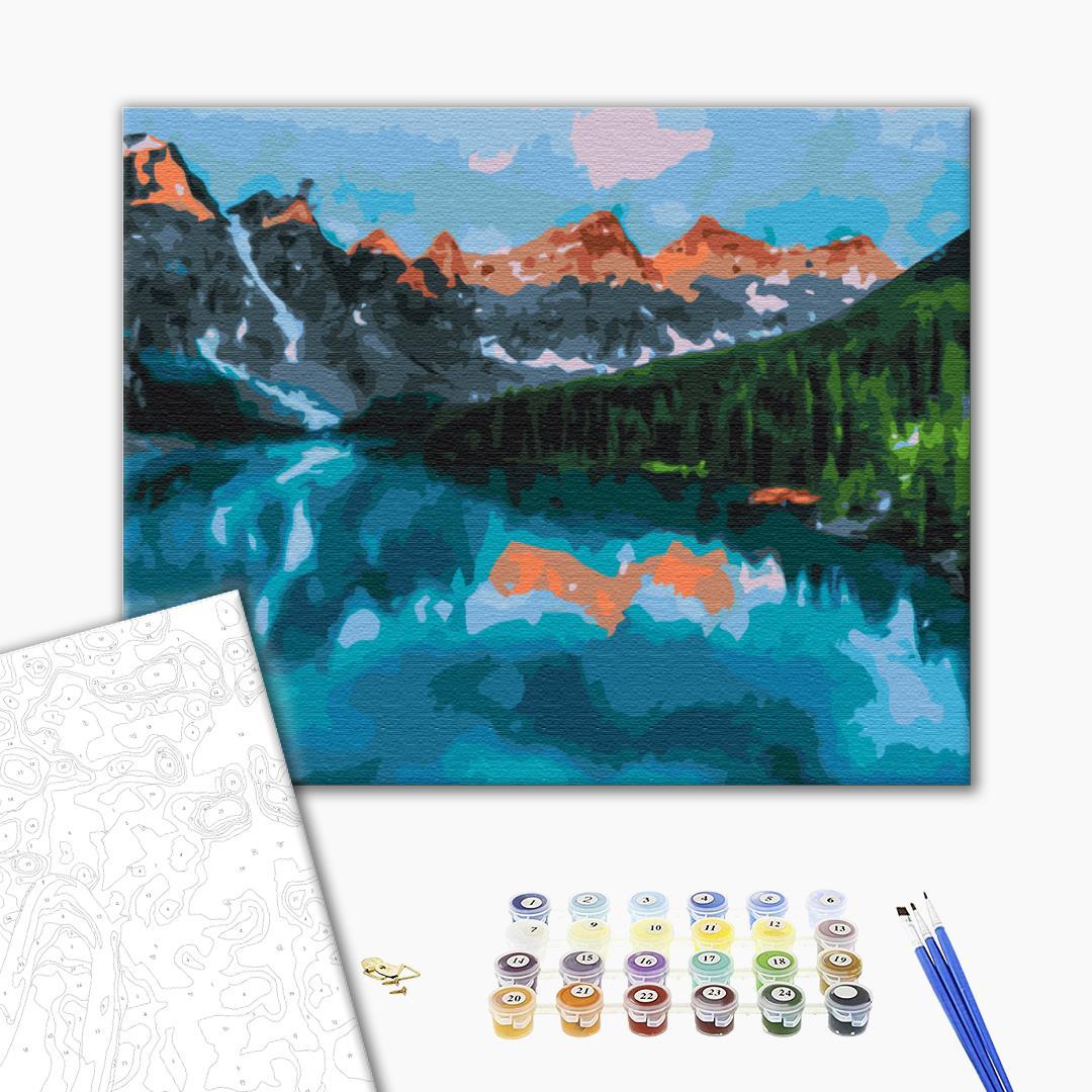 Картина по номерам Пейзажи - Скалистые горы Канады