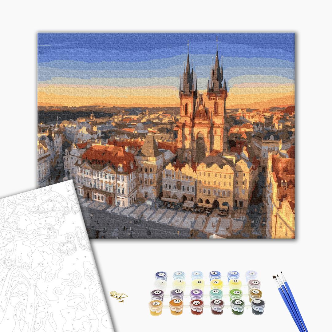 Картина по номерам Города - Панорама Праги