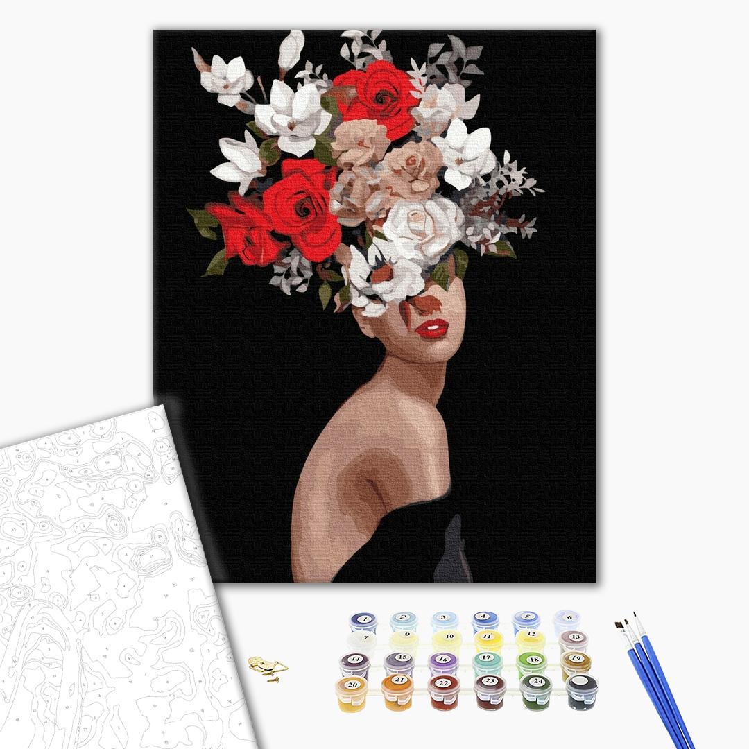 Картина по номерам Уникальные сюжеты - Мысли в цветах