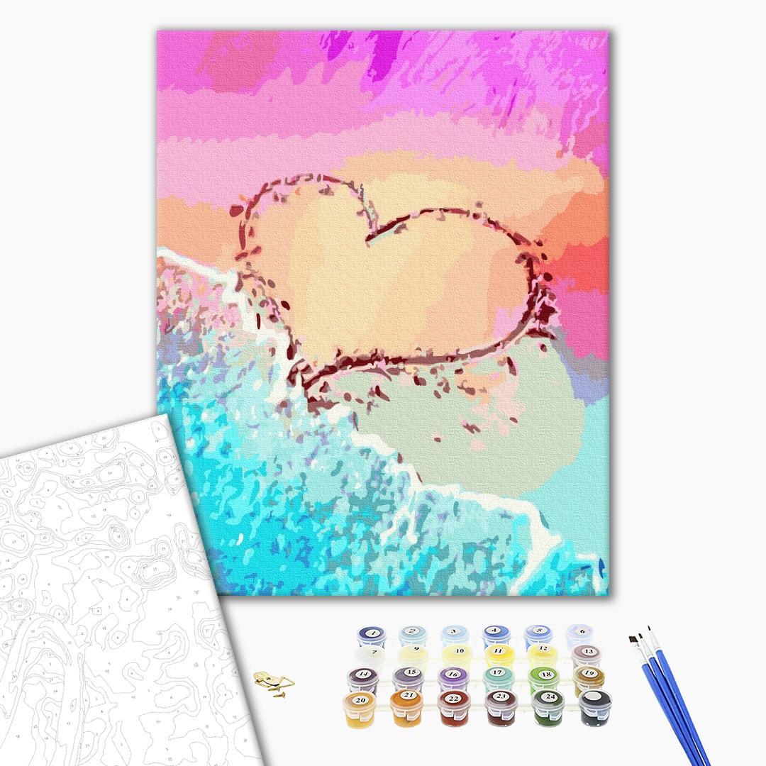 Картина по номерам Уникальные сюжеты - Любовь на побережье