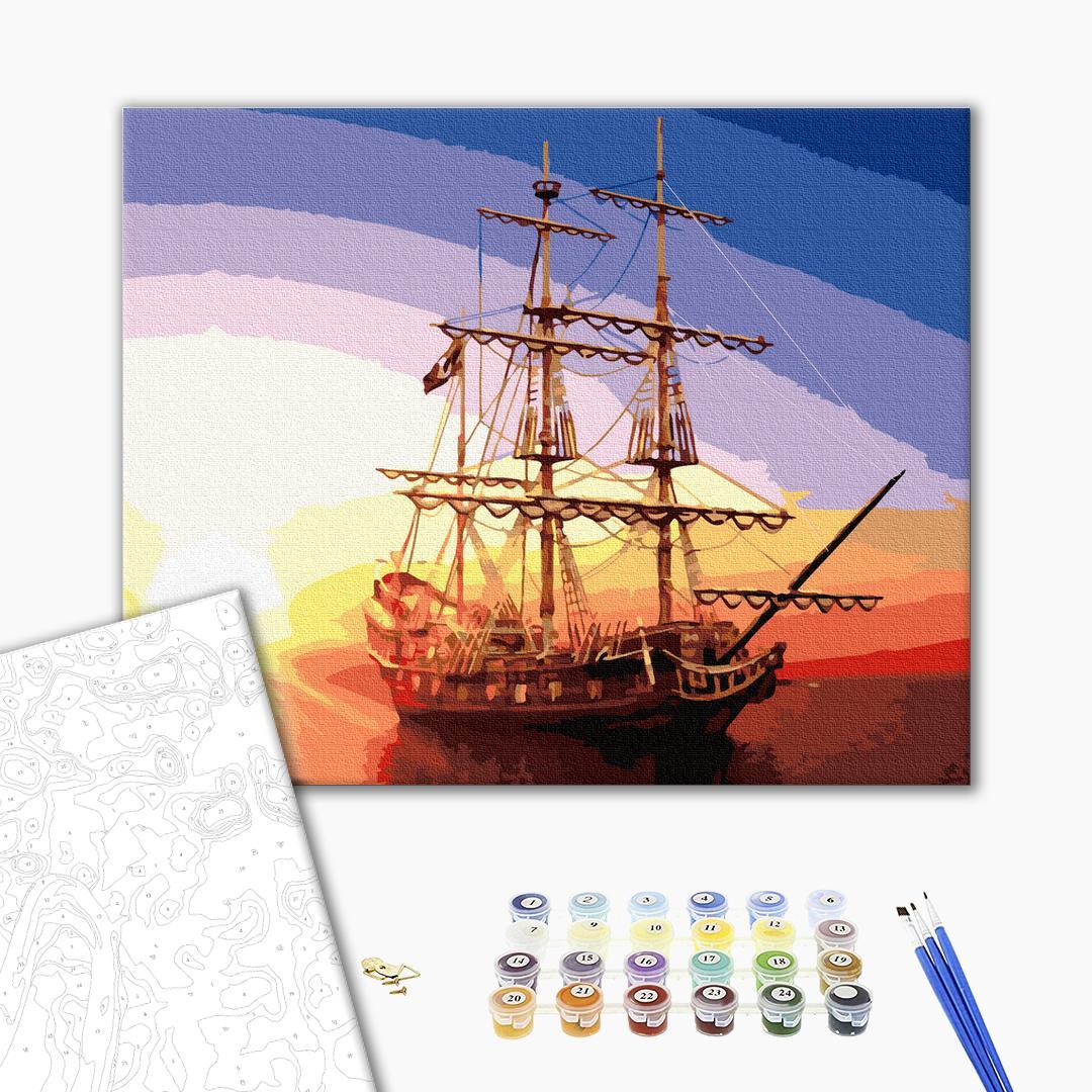 Картина по номерам Корабли, авто и самолеты - Парусник