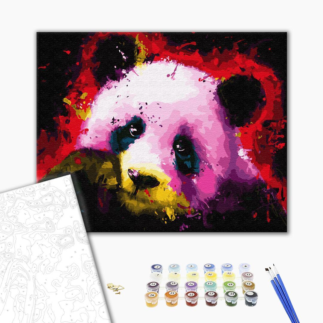 Картина по номерам Поп-арт - Панда в красках