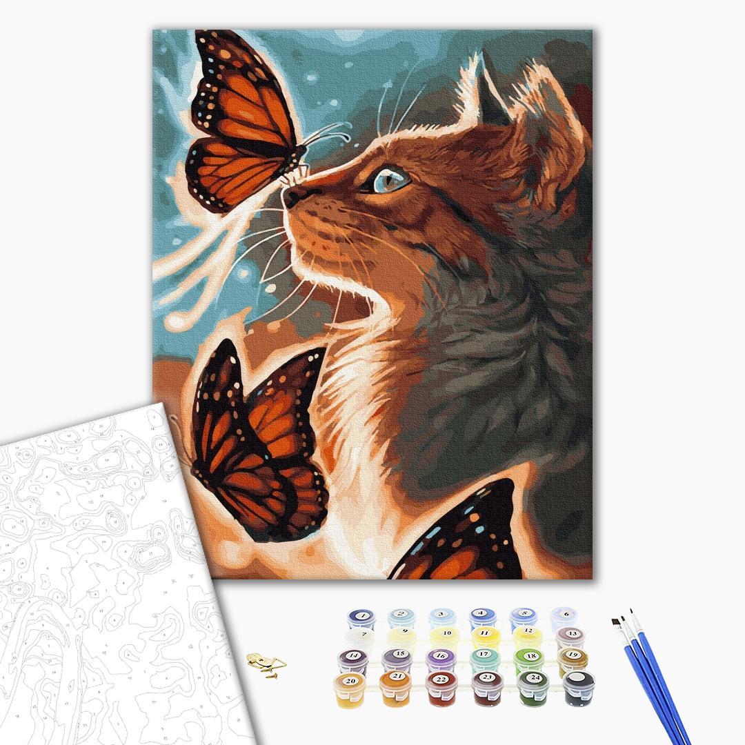 Картина по номерам Животные, птицы и рыбы - Сяючий котик